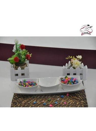 Cooker 4 Parça Porselen Sosluk Ckr1456 Beyaz